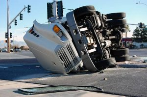 Image of a truck accident investigated by Brockton truck accident lawyer