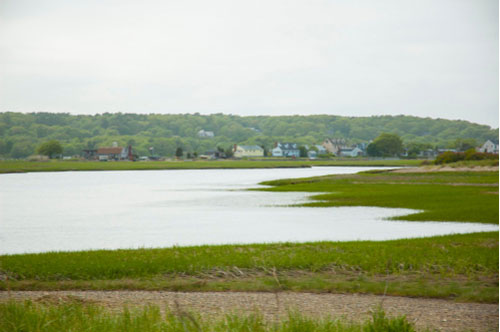 Marsh and River Landscape Marshfield Massachusetts