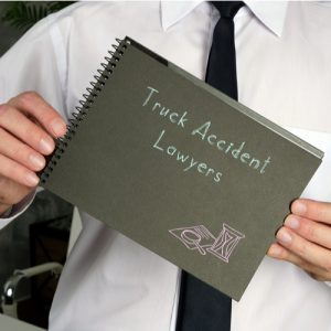 Image is of a Brockton truck accident lawyer