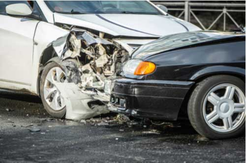 Head-on collision, concept of Bridgewater car accident lawyer