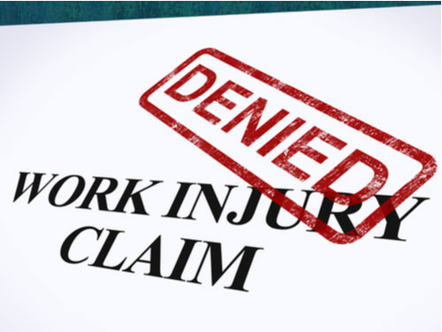 A denied work injury claim, concept of Bridgewater workers' compensation lawyer